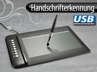 GeneralKeys Premium USB-Grafik Tablet mit 8 Hotkeys, 254 x 159 mm (Bild 1)