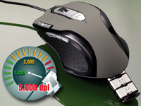 "Mod-it Professionelle Gaming-Laser-Maus ""LMX-5005"" mit 5000dpi (Bild 1)"