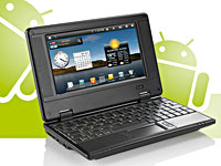 "Meteorit Android-Netbook ""NB-7"" mit 17,8-cm-Display, 1-GHz-CPU, WLAN (Bild 1)"