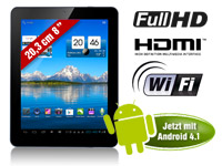 "TOUCHLET 8""-Tablet-PC X8 mit Dual-Core-CPU, Android 4.1, HD-Display"