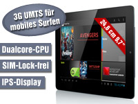 "TOUCHLET Tablet-PC X10.dual+, DUAL CORE CPU, 3G & BT, 9.7""-Touchscreen (Bild 2)"