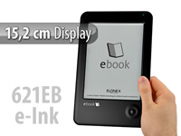 "Elonex 15,2cm/6"" eBook-Reader 621EB mit E-Ink, DRM & MP3 (refurbished) (Bild 1)"