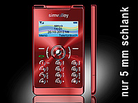 "simvalley MOBILE Mini-Handy RX-380 ""Pico X-SLIM RED"" (refurbished) (Bild 1)"