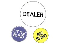 Dealer Buttons (Dealer, Little Blind, Big Blind) im Beutel (Bild 1)