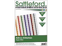 Sattleford 2800 Adress-Etiketten Super-Mini 25,4x16,9 mm Laser/Inkjet (Bild 1)