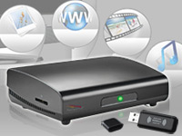 "Meteorit Multimedia-Box ""MMB-22.HDTV"" Android2.2, WLAN Stick & DLNA"