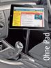 Schwanenhals-Halterung zur Verschraubung an der Sitzschiene