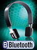 Stereo-Bluetooth-Headset, schwarz