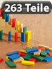 263-teiliges Domino-Set mit Holzsteinen & Action-Elementen