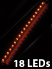Ultraflexible LED-Leiste mit 18 LEDs orange, 33 cm
