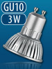 High-Power LED-Strahler 3x1W LED, warmweiß, GU10 (230V)