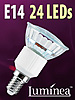 SMD-LED-Lampe E14 24 LEDs 230V - warmweiß
