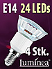SMD-LED-Lampe E14 24 LEDs 230V - warmwei� 4er-Pack