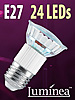 SMD-LED-Lampe E27 24 LEDs 230V - warmweiß
