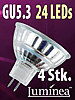 SMD-LED-Lampe GU 5.3 24 LEDs 12V - warmwei� 4er-Pack