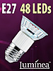 SMD-LED-Lampe E27 48 LEDs 230V - warmweiß