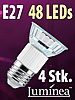 SMD-LED-Lampe E27 48 LEDs 230V - warmweiß 4er-Pack