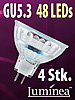SMD-LED-Lampe GU 5.3 48 LEDs 12V - warmwei� 4er-Pack