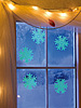 "Schneeflocken-Fensterdeko ""Glow-in-the-dark"", 10er-Set"