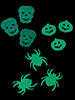Halloween-Konfetti in 3 Motiven, Glow-in-the-dark