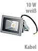 Wetterfester LED-Fluter mit Metallgeh�use, 10W, IP65, wei�