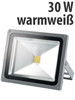 Luminea Wetterfester LED-Fluter im Metallgeh�use, 30W, IP65, warmwei�