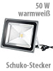 Luminea Wetterfester LED-Fluter im Metallgeh�use, 50W, IP65, warmwei�
