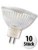 SMD-LED-Lampe, GU 5.3, 60 LEDs, 12V, Warmweiß, 10er-Pack