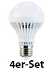 Luminea LED-Lampe, 7W, E27, 5400K, weiß, 420 lm, 180�, 4er-Set