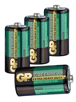 Greencell Batterie Baby Typ C, 4er-Pack