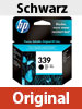 Original HP Tintenpatrone C8767EE (No.339), black HC