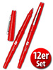 Fineliner 0,7 mm, 12er-Set, rot