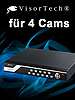 Überwachungs-Recorde DVR-6004 H.264 für 4 Cams (refurbished)