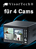 Digitaler Überwachungs-Recorder DVR-8004 H.264 mit Monitor