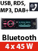"DAB+ MP3-Autoradio ""CAS-4400bt"" USB / SD / Bluetooth"