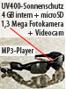 Kamera-Sonnenbrille mit MP3-Player & 4GB Speicher(refurbished)