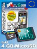 Navisoftware für Simvalley XP-45/65 West-Europa, 4GB microSD