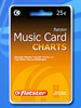 Flatster Music Card Top 100 Charts- Musik legal hören & behalten