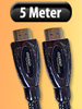 Premium HDMI-Kabel Full HD, 19pol. vergoldete Stecker 5m