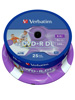 Verbatim DVD+R 8,5GB, 8x Double Layer printable, 25er-Spindel