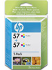 Original HP Doppelpack 2x C6657AE (No.57), color