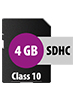 SecureDigital SD-Speicherkarte 4 GB (SDHC) Class 10