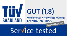 "TÜV-Siegel ""Service tested"""